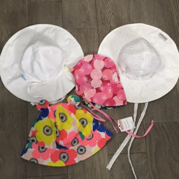 8c675ecda38 Flap Happy Accessories | Babytoddler Girl Sun Hats Lot Of 4 | Poshmark